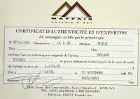 Certificat - Roland Pichet RCA