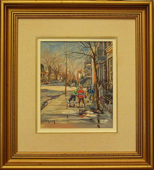 Marcel Ravary tableau 10x12 po.