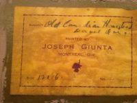 JOSEPH GIUNTA  R.C.A. (1911-2001 )